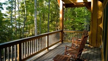 Cabin porch at Occoneechee State Park. (Photo must be credited: CameronDavidson@CameronDavidson.com)