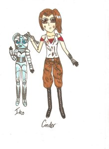 cinder_and_iko_by_theawesomefaerie-d4s43s8